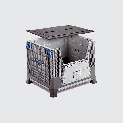 Сгъваема палетна кутия 34-1210-3592-001 Eco пластмасови палети