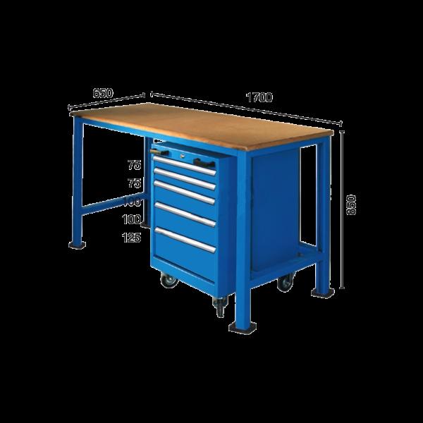 Banc de lucru BC 07 cu încuietoare pentru fabrici și ateliere