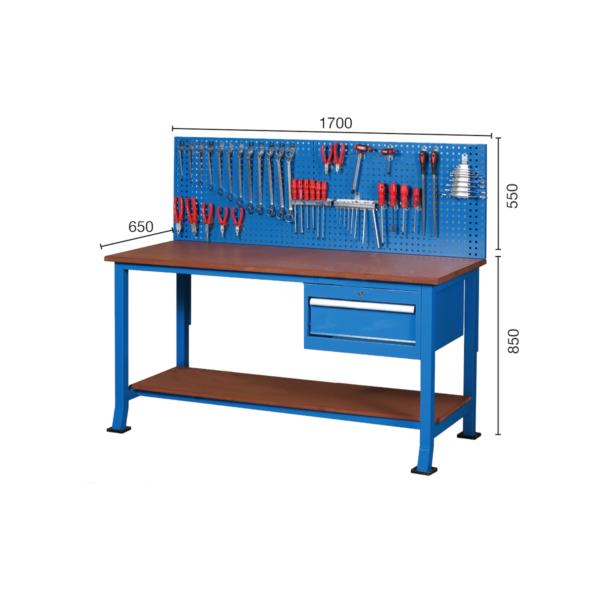 Banc de lucru BC 05 cu încuietoare pentru fabrici și ateliere