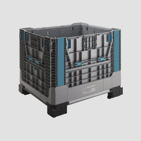 Boxpalet din plastic pliabil 34-121010 pentru transport