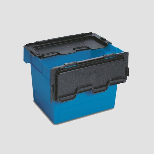cutie Nesco dublu stivuibila din plastic cu capac atasat 37-4330-116