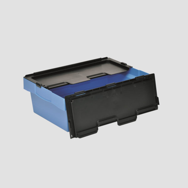 cutie Nesco dublu stivuibila din plastic cu capac atasat 37-6420-116