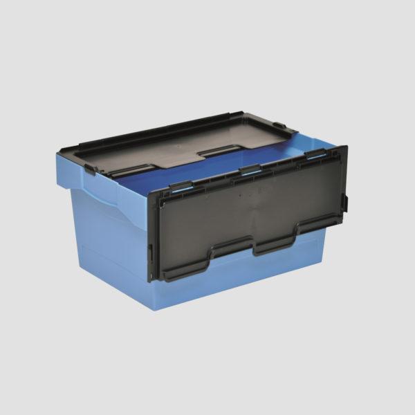 cutie Nesco dublu stivuibila din plastic cu capac atasat 37-6430-116
