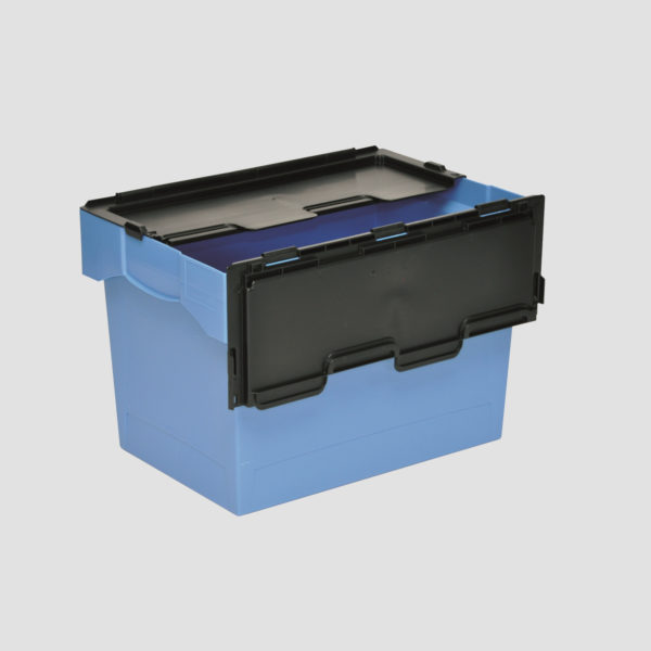 cutie Nesco dublu stivuibila din plastic cu capac atasat 37-6440-116