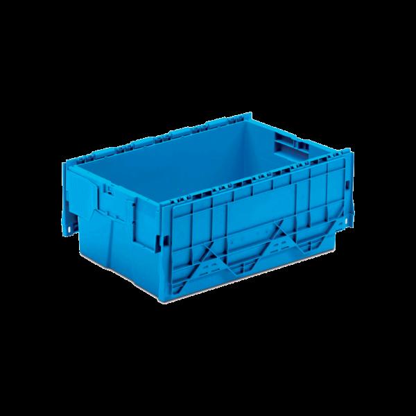 cutie dubla stivuibila din plasti cu capac atasat 43-6426-2