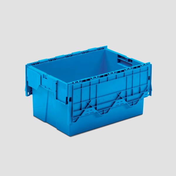 cutie dubla stivuibila din plastic cu capac atasat 43-6431-2