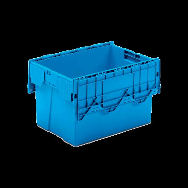 cutie dubla stivuibila din plastic cu capac atasat 43-6437-2