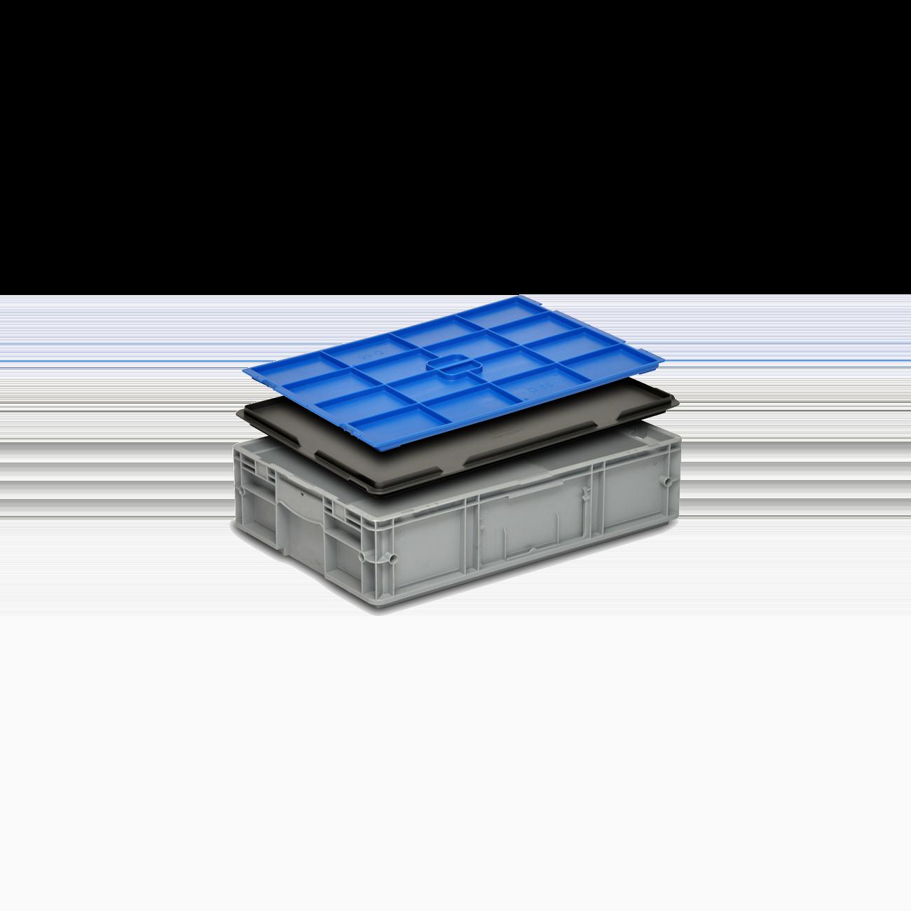 Solid Plastic Container VDA-RL-KLT 6147